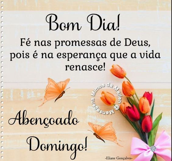 Bom dia Abençoado Domingo