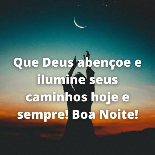 boa noite chuva de benção de Deus