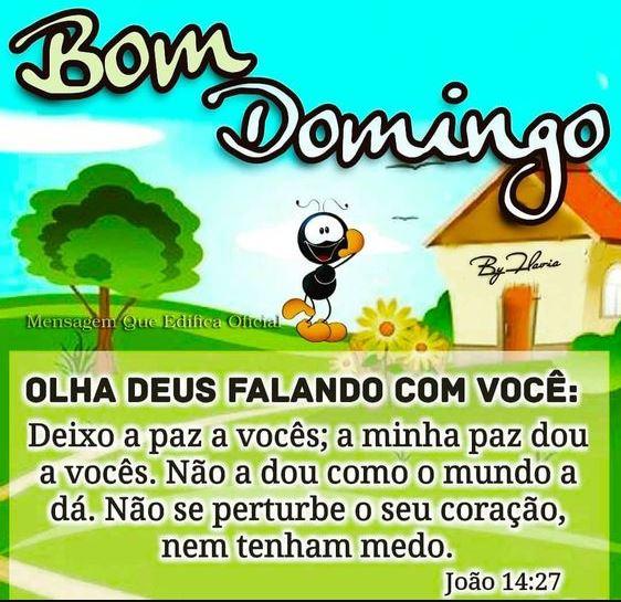 Mensagem bíblica de bom Domingo