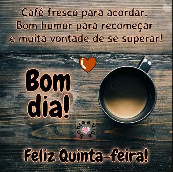 Bom dia Quinta-feira com café