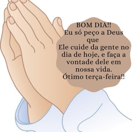 Imagem com mensagem de bom dia terça para Deus abençoar o seu dia
