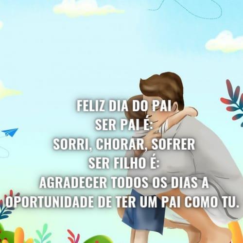 Mensagem animada para deixar o dia dos pais feliz.