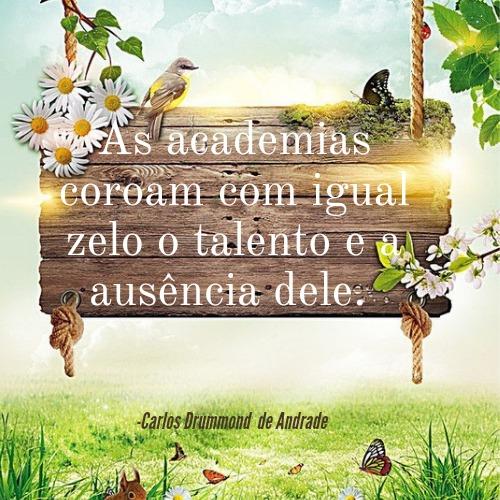Frase de Carlos Drummond de Andrade para se inspirar e divertir lendo lindas poesias