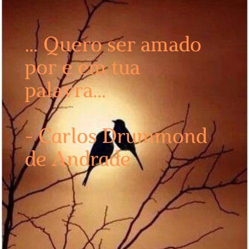 Frase perfeita de Carlos Drummond de Andrade