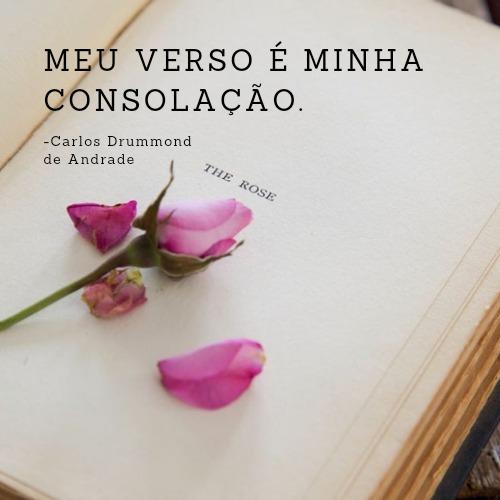 Frase de Carlos Drummond de Andrade com amor
