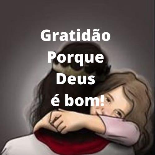 Frase com  gratidão a Deus