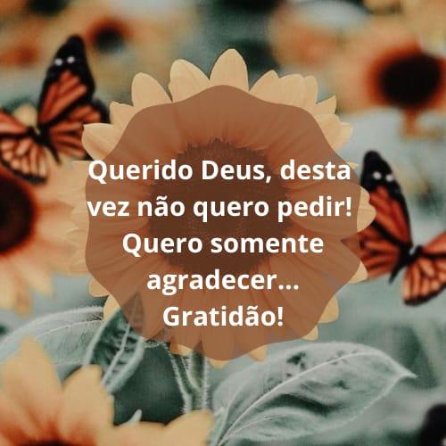 Frase com linda mensagem de gratidão a Deus