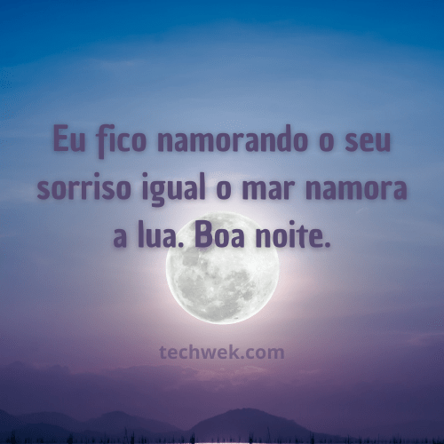 boa noite com lua cheia