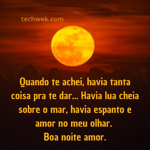 imagem romantica com lua e frases de boa noite