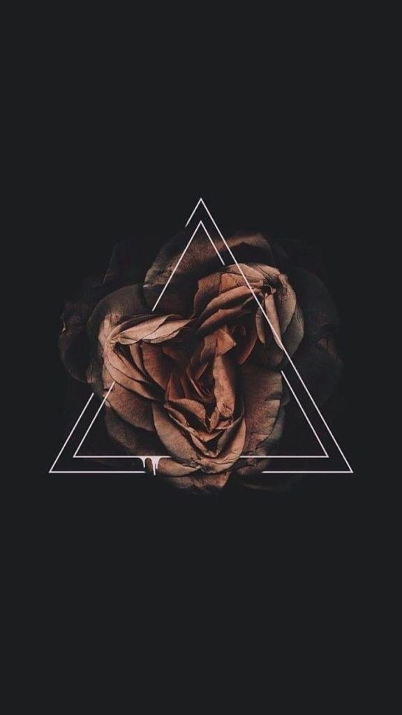 Triângulo Papel de parede preto