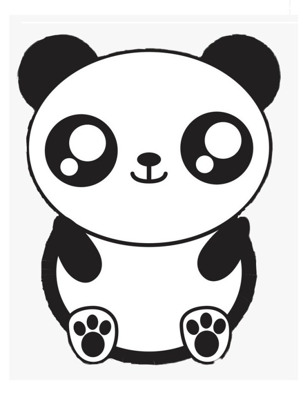lindos desenhos de colorir o panda kawaii