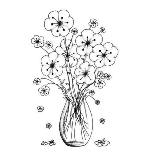 Desenho perfeito de flores para imprimir e colorir