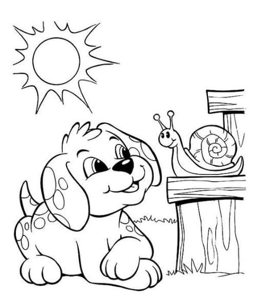 Desenho lindo para colorir cachorro fofo e lindo