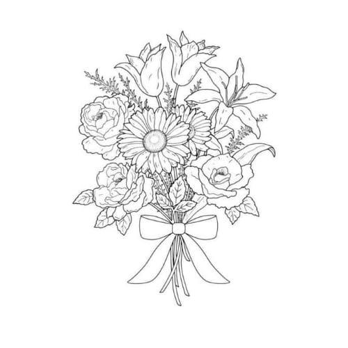 Imagem excelente com desenho de flor para imprimir e colorir