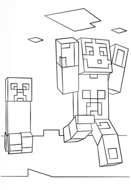 desenhos  Minecraft correndo