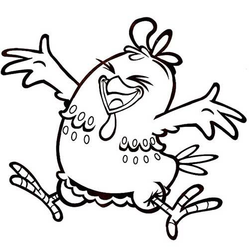 Desenhos galinha pintadinha para colorir alegre