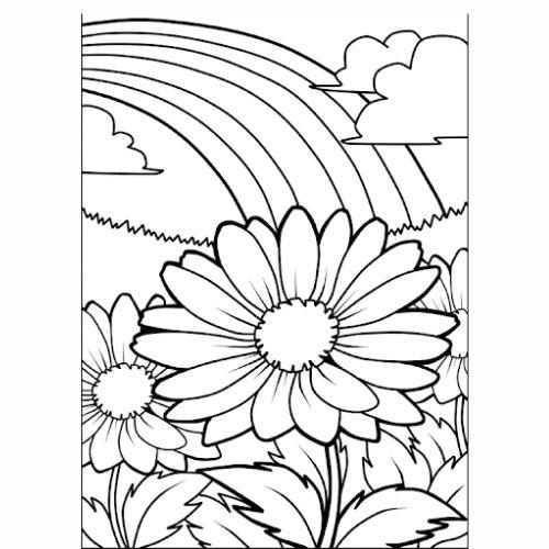 Desenhos de Arco-íris Sol e Nuvens flores