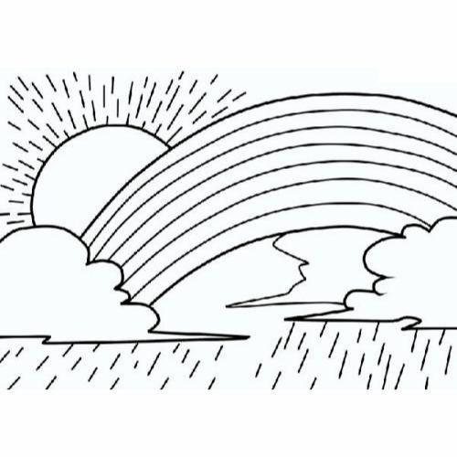 Desenhos de Arco-íris Sol e Nuvens lindo