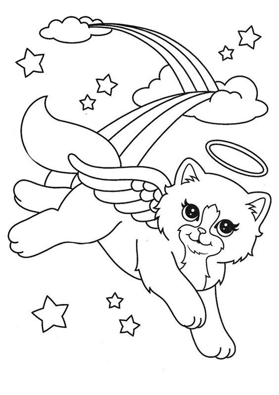 Desenhos de gatos para pintar e imaginar