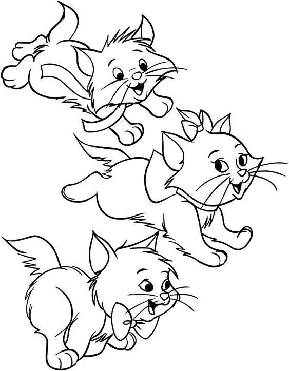 Desenhos de gatos para pintar filhotinhos
