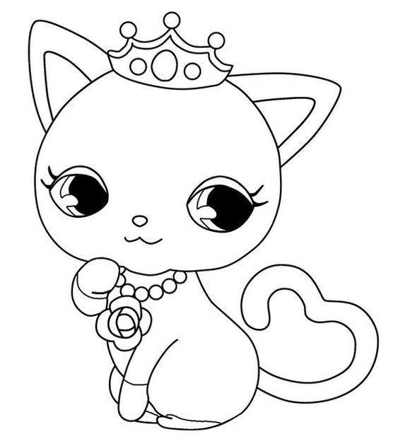 Desenhos de gatos para pintar fofinha