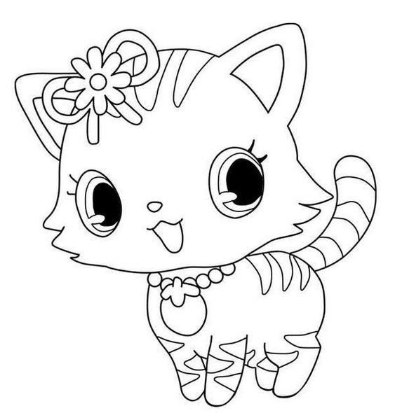 Desenhos de gatos para pintar moda