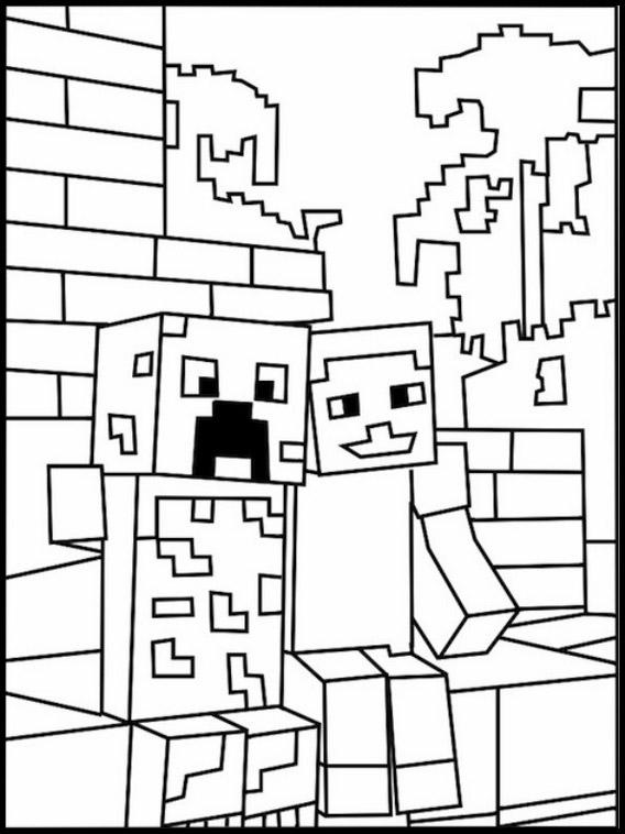 desenhos  Minecraft friends