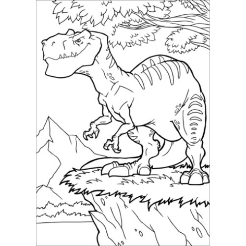 dinossauros para colorir feroz e assustador
