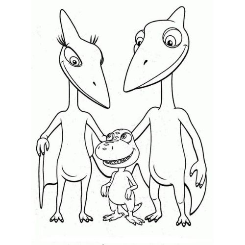 dinossauros para colorir dino família