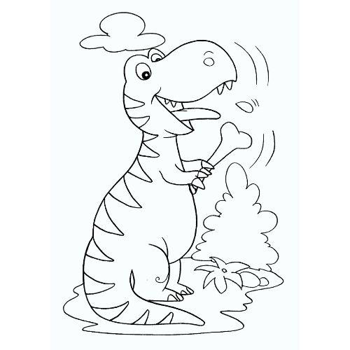 dinossauros para colorir ossinho