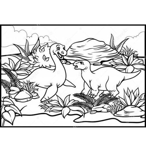 dinossauros para colorir aquáticos