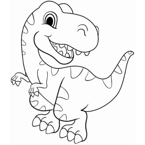 dinossauros para colorir bonito