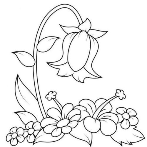 Imagem de desenho de flor maravilhoso para imprimir e colorir