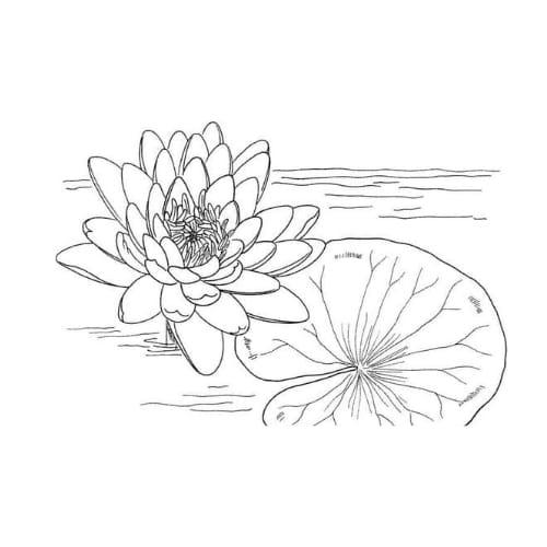 Desenho de uma linda flor para imprimir e colorir