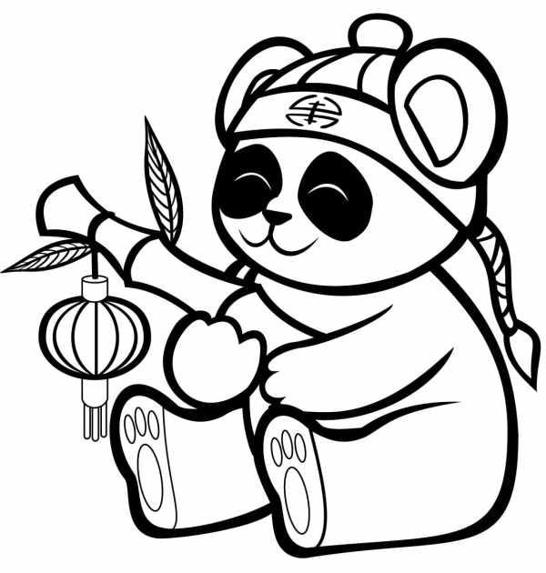 desenhos de panda para colorir do kawaii