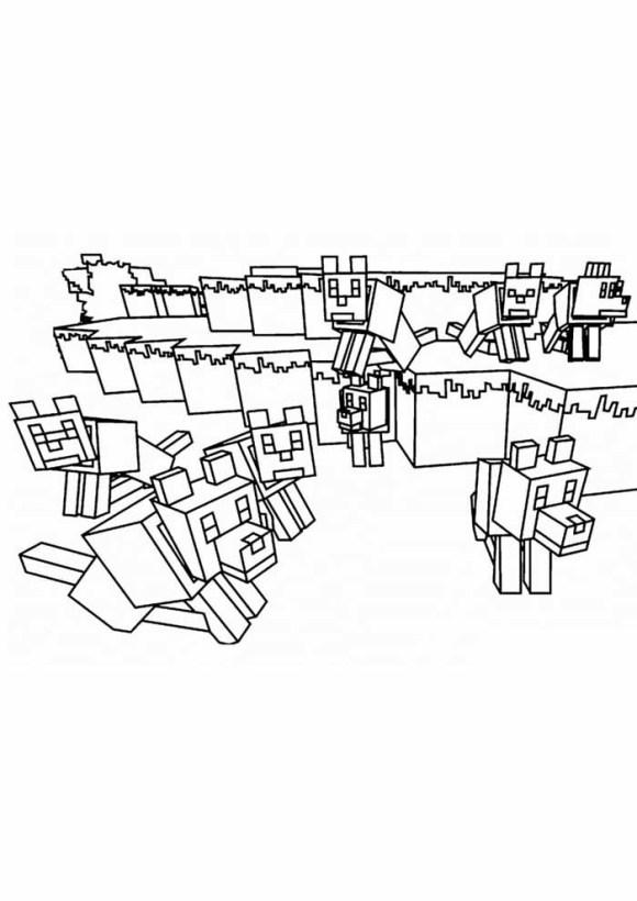 desenhos  Minecraft rebanho