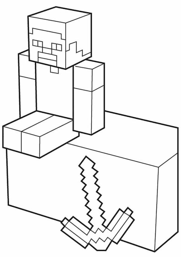 desenhos  Minecraft triste