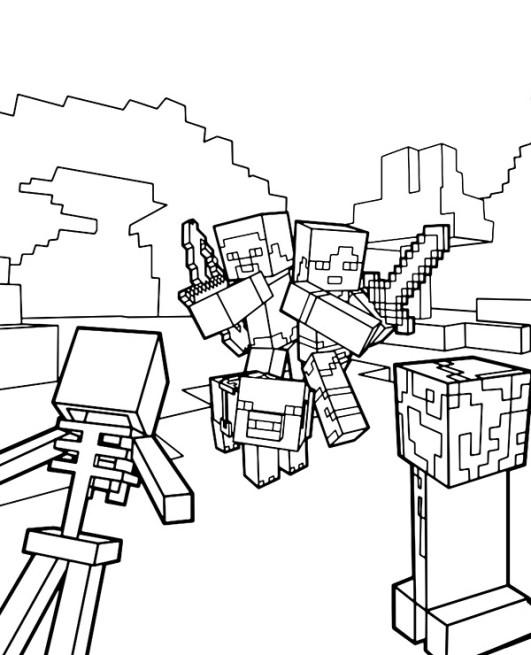 desenhos  Minecraft melhores