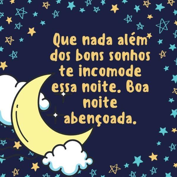 boa noite abençoado com estrelas