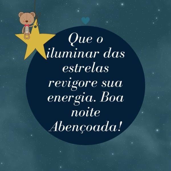 mensagem boa noite ursinho e estrela