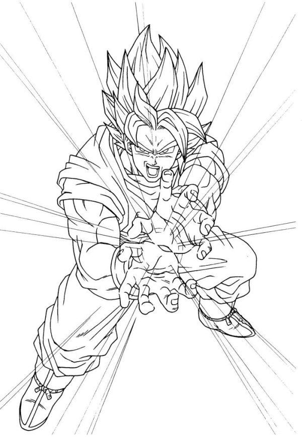 Desenhos do Goku gama rá
