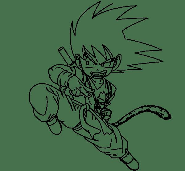 Desenhos do Goku criança