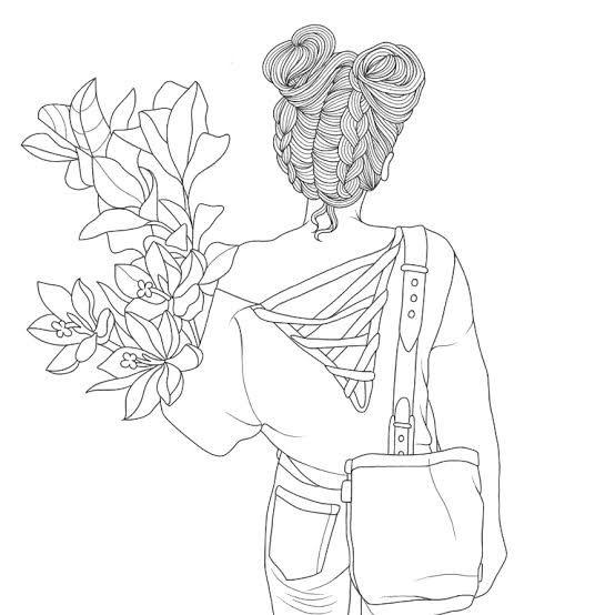 Mulher tumblr desenho