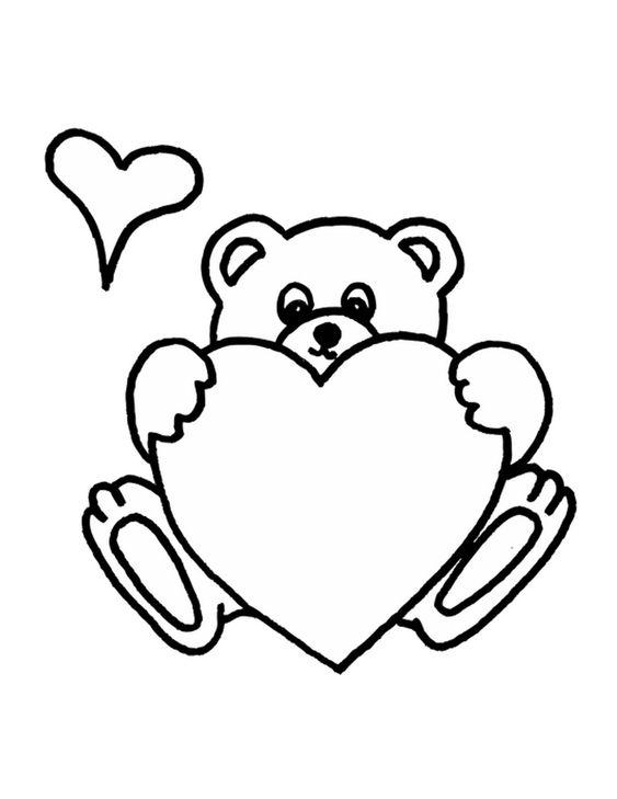 Desenhos de coração para colorir brilhante