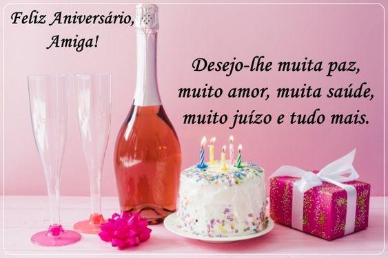 Desejo-lhe feliz aniversário amiga