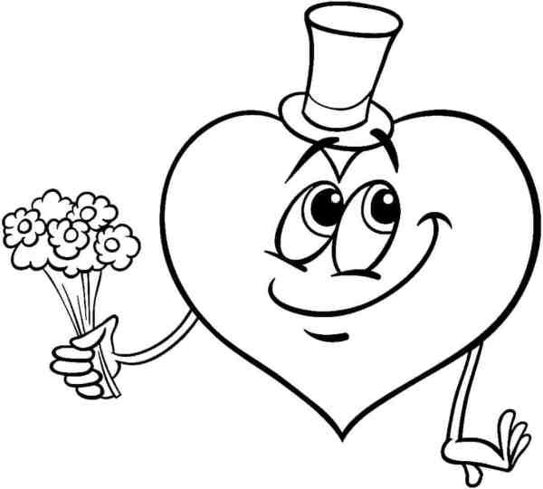 Desenhos de coração para colorir criativo