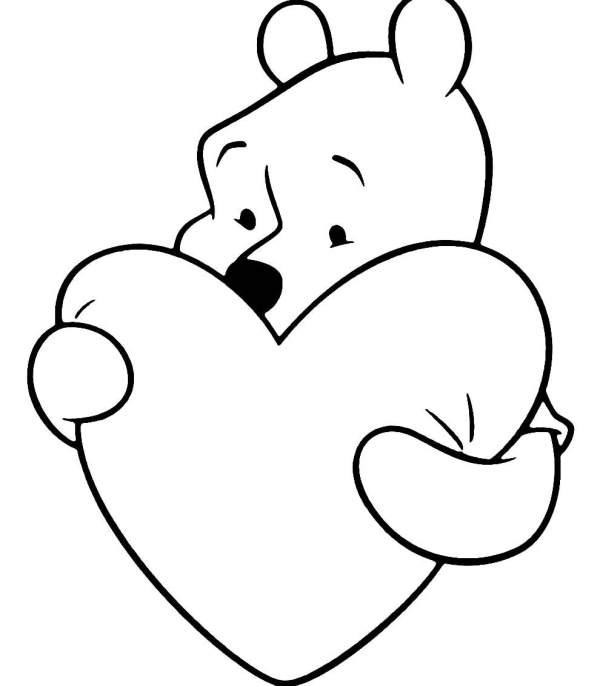 Desenhos de coração para colorir fofo