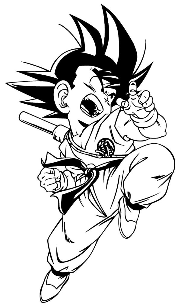Desenhos do Goku para pintar