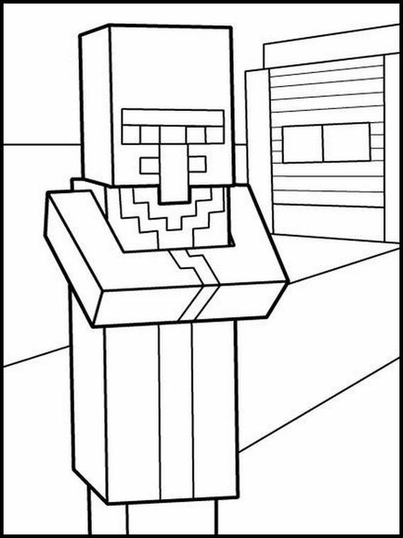 desenhos  Minecraft sério