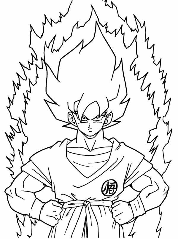 Desenhos do Goku bonito